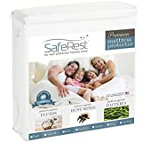 SafeRest Queen Size Premium Hypoallergenic Waterproof Mattress Protector - Vinyl Free...