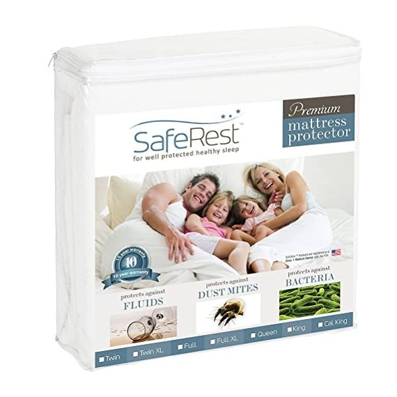 SafeRest-Premium-Hypoallergenic-Waterproof-Mattress-Protector-Vinyl-PVC-and-Phthalate-Free