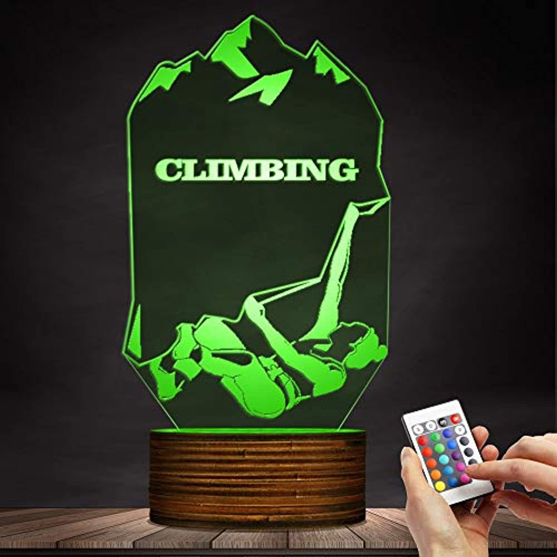 3D dekoratives Nachtlicht Frauen-Entwurfs-Kletternder Frau 3D leuchtendes LED-Nachtlicht, extreme Sport-optische Tuschungs-Licht-Licht-modernes Licht-Klettern-Felsen-Liebhaber-Geschenk Emotionales Na