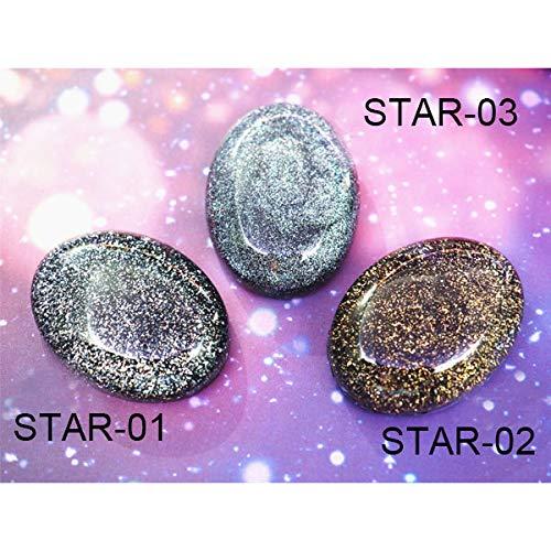 VIAIA Galaxy Resina Art Supplies Holo Star Pigment Polvo Resina Holográfica Colorear Brillo Polvo DIY Joyería Haciendo Resina (Color : Star01 03)