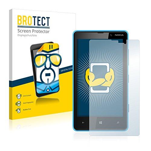 brotect Pellicola Protettiva Compatibile con Nokia Lumia 820 Pellicola Trasparente (2 Pezzi) Anti-Impronte