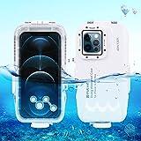 PULUZ - Funda para iPhone 12 Pro Max, carcasa profesional para fotografía subacuática [40 m/131 pies], buceo, surf, natación, esnórquel, fotografía subacuática, carcasa para iPhone 12 Pro Max