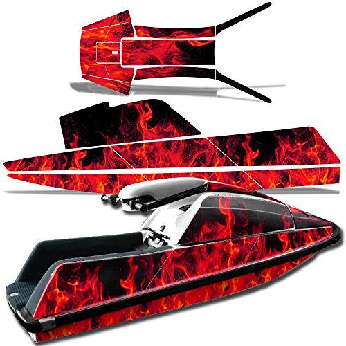 Reaper V2 Orange Wholesale Decals Jet Ski Graphics kit Sticker Decal Compatible with Yamaha SuperJet Round Nose