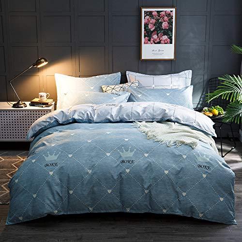 Songxz - Sábanas de algodón de cuatro piezas para cama individual, 1,5 m, 1,8 m, 2 m, 2,2 m, Blog, A