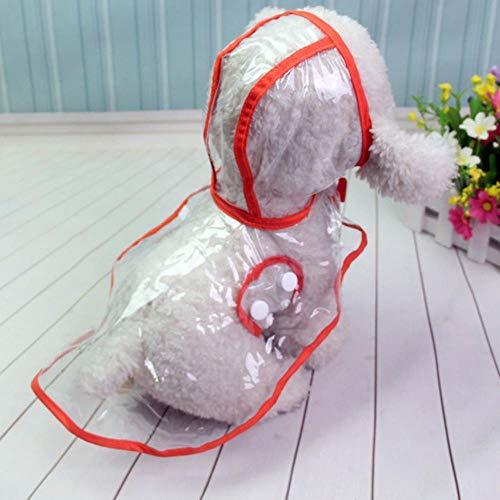 RANJN Waterdichte Transparante Regenjassen Hond Regenjas Lente Zomer Regenjassen Hond Licht Kleding Huisdier Accessoires Puppy Regenjas