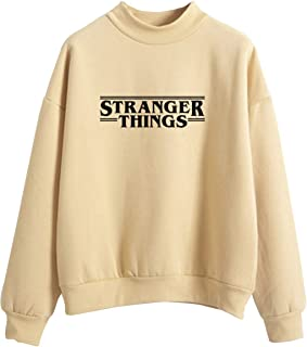 Sudadera Stranger Things Mujer, Sudadera Stranger Things Niña, Sudadera Suéter Unisex Hombres Chicas Impresión de Cartas S...