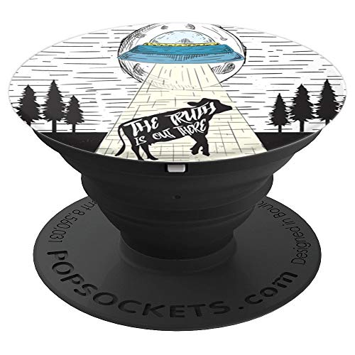 Alien Abduction Phone Grip Alien Cow Abduction PopSockets Grip and Stand for Phones and Tablets