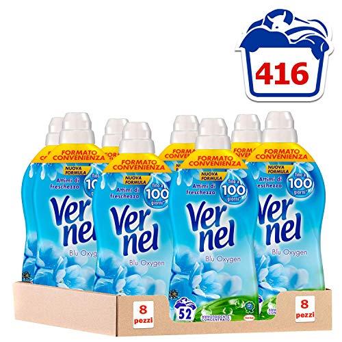 Vernel Concentrato Blu, 1.3 L - 52 Lavaggi, 8 Pezzi