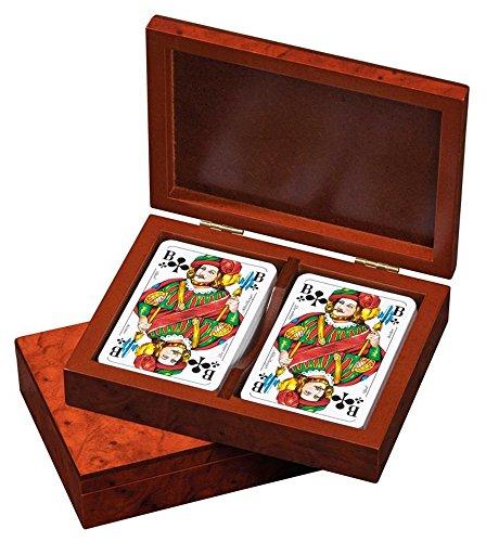 Philos 6651 - Rommé-Karten, in Kartenbox, Spielkarten