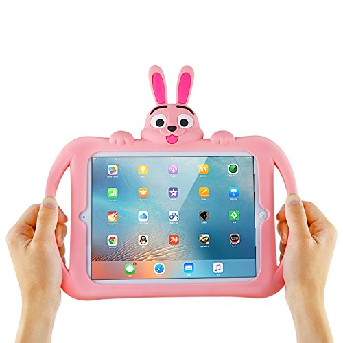Cute iPad Air 3 10.5' 2019 / iPad Pro 10.5' 2017 Stand Case for Kids, Cartoon Rabbit Design Shockproof Waterproof for Girls Boys