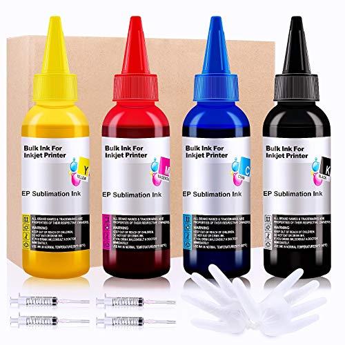 Seogol Sublimation Ink for Epson EcoTank Workforce Printers ET-2720 ET-2760 ET-2750 ET-15000 ET-4700 ET-3760 WF-7710 WF-7720 WF-7210 C88+ ETC. 400ml/Offer Free ICC Printing