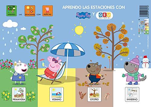 Peppa Pig Láminas Aprendo las Estaciones | Tamaño Formato A3: Peppa Pig Vocabulario Visual (Material escolar infantil y Educación Especial)