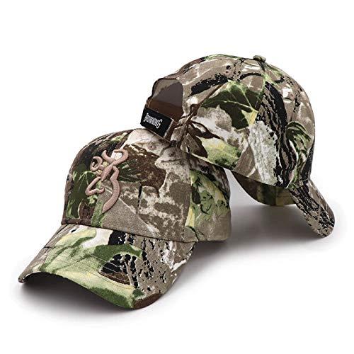 QOHNK Sombrero de Camuflaje Browning al Aire Libre Gorra de béisbol Hombres Gorra de Pesca Jungle Hunting Sombrero de Camuflaje Airsoft Tactical Hiking Hats