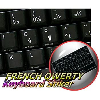 NON-TRANSPARENT KEYBOARD STICKER ON BLACK BACKGROUND FOR DESKTOP LAPTOP AND NOTEBOOK TRADITIONAL PORTUGUESE