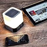 Sketchfab Bluetooth Speaker Night Light, Alarm Clock, Bluetooth Speaker MP3 Player, Press Control