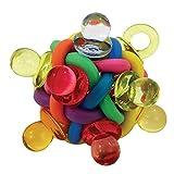 Parrot Essentials 720064 Binkies Ball Fuß Spielzeug für Papageien, Klein, 40 g