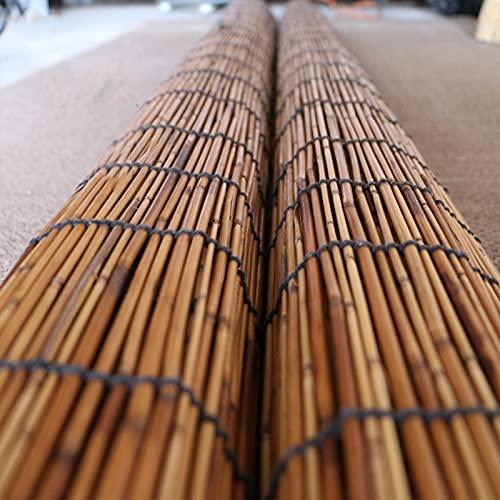WMQ Cortinas para Exteriores, Persiana Enrollable de bambú Natural, Persianas Romanas, Persianas filtrantes, Adecuado para Interior/Exterior, Personalizable