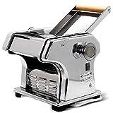 maquina para hacer pasta Máquina de pasta, pasta máquina eléctrica Maker con la máquina Conjunto de motor de acero inoxidable de pasta rodillo 220v Perfecto for profesionales hecha en casa espagueti y