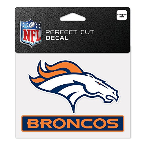 WinCraft NFL Denver Broncos WCR47948014 Perfect Cut Color Decal, 4.5