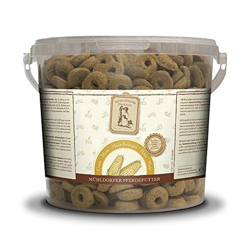 Mühldorfer Mais-Kringel, 2 kg, Leckerlis für Pferde, wertvolles Belohnungsfutter mit Mais, bröckeln, schmieren und kleben nicht