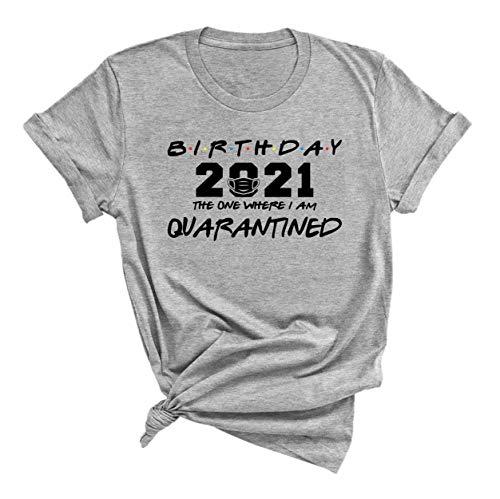 Birthday 2021, social distancing bday, top birthday gift, Birthday Quarantine T-shirt, friends tv shirt, social distancing, Birthday 2021, The one where i'm Quarantined 2021, Quarantined tshirt