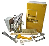 Premium Beekeeping Supplies Starters Kit | 6 Piece Tool Set | Includes...
