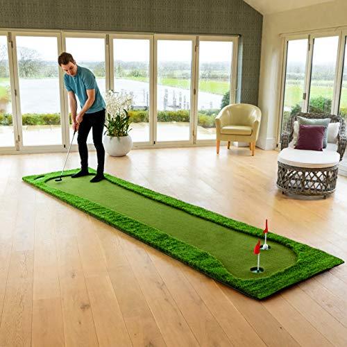 FORB Alfombra de Putting Profesional – Alfombra de Golf para Entrenamientos Profesionales (Estándar, XL & XXL) (Estándar)