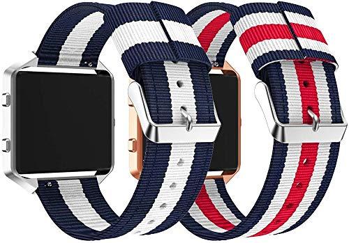 Gransho Reloj Bandas Compatible con Fitbit Blaze – elección de Color, Longitud y Anchura – Correas de Nailon