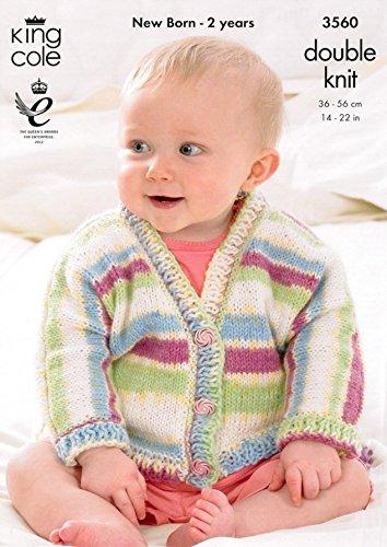 King Cole Baby Dolman Strickjacken und Beute Komfort Prints DK Strickmuster 3560