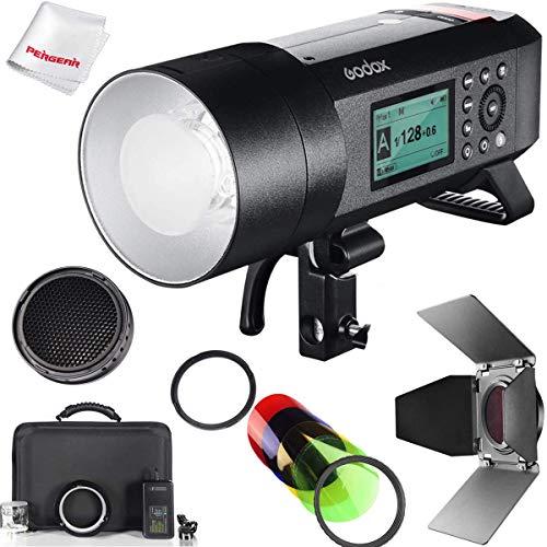 【Godox正規代理店】Godox AD400Pro 400W GN72 2.4G TTLフラッシュストロボ 1/8000 HSS 0.01-1秒のリサイクル 30w LEDモデリングランプ AD400 Pro バーンドアハニカムグリッドカラーフィルターキット同梱