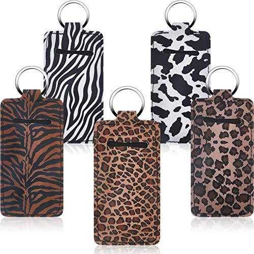AMAZING1 - 10 portachiavi per cappellotto, con clip in neoprene, per rossetto, per balsamo, in neoprene, con anello in metallo