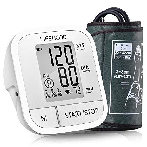 Blood Pressure Monitor - Clinically Accurate & Fast Reading Health Monitor, 60 Reading Memory Automatic Upper Arm Digital BP Monitor with Large Display & Buttons, Wide Range Cuff, One Touch Operation