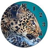 prz0vprz0v - Reloj de madera clásico, sin tachuelas, 12 pulgadas, diseño vintage majestuoso Jaguar Jaguar
