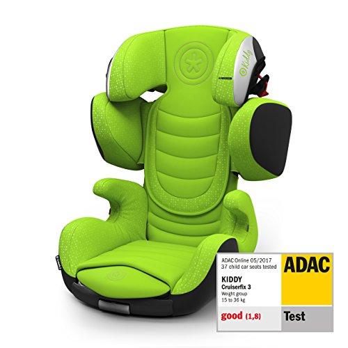 Kiddy Cruiserfix 3 Siège auto pour enfant (groupe 2/3) (de 3 ans à 12 ans) (env. 15 kg à 36 kg) avec Isofix | Collection 2019 | Lizard Green