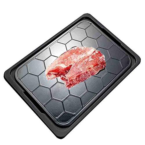 Platte Auftauen AGYH Schnell Thawing Platte, Food Grad Aluminium Abtauwanne, Verwendete for Natürliches Auftauen Gefrorenen Huhn-Steak Fisch, Mit Tablett Und Klemme, 13x9in / 33.5x23.5cm