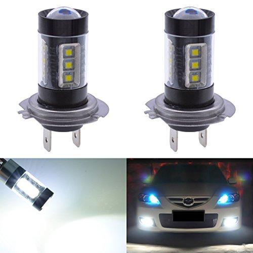 LED pour phares anti-brouillard, clignotants et feux de croissement - Aluminium - 1800 LM h7