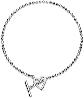 Gucci Women's Extra-Large Toggle Heart Necklace Silver Necklace