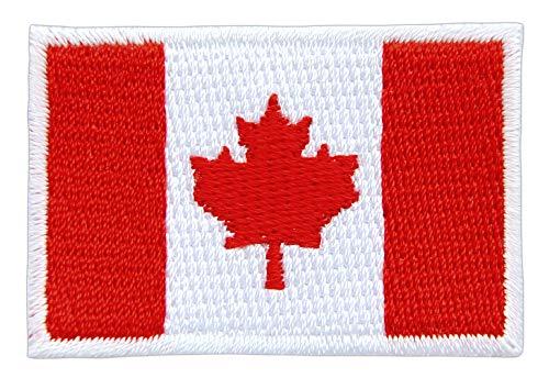 Patch Kanada Flagge Klein Canada Aufnäher Bügelbild Größe 4,6 x 3,1 cm