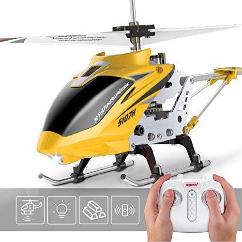 ZIHENGUO SYMA S107H RC Hubschrauber mit Hover-Funktion 3.5CH Fernbedienung Hubschrauber Eingebautes Gyroskop RC Drohne Bruchsicher Spielzeug Geschenk Für Kinder,Yellow