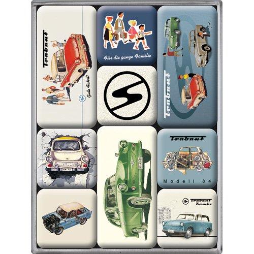 Nostalgic Art Magnet-Set 9-teilig, Bunt
