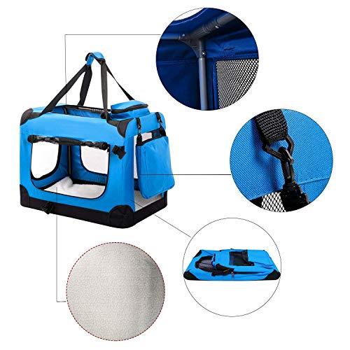 Ximger - Bolsa de transporte para perros o gatos y cachorros para mascotas con alfombrilla de forro polar y bolsa de alimentos