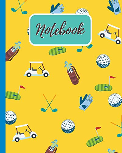 Notebook: Golf Pattern - Blank Lined Notebook, Diary, Log & Journal - Gift for Golfer Kids, Teen, Adult Who Love Playing Golf (8