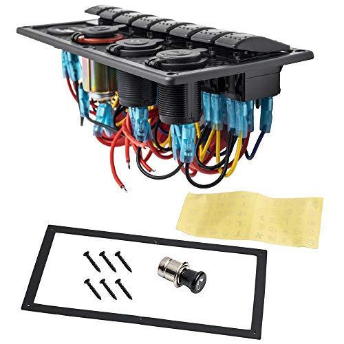 maXpeedingrods 12 V/24 V 8 marchas LED rojo interruptor interruptor palanca coche barco