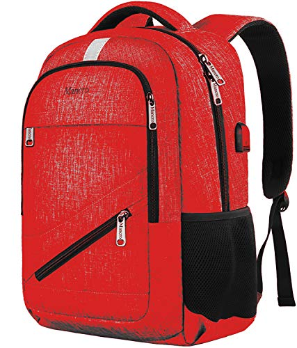 Mancro College Anti Theft Backpack