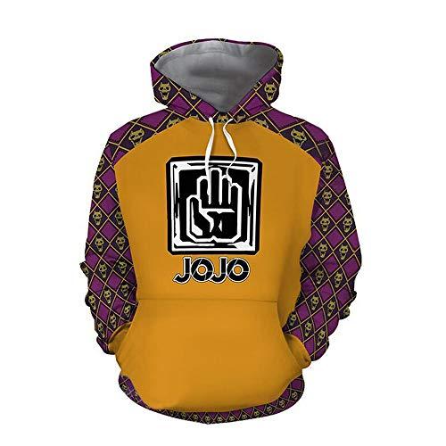 JoJo's Bizarre Adventure Hoodie Guido Mista Kujo Jotaro Cosplay Costume Sweatshirt Zipper Long Sleeves Coat Jacket (Kujo Jotaro, XXXL)