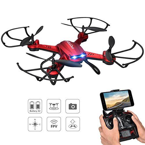 Drone con Telecamera, Potensic® Wifi FPV 2.4GHz 4CH 6-Axis Gyro RC Quadcopter Drone con 2 Megapixel HD Camera, 3D Flips...