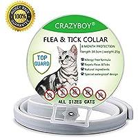 Collar Antiparasitario para Gatos, Protección de 8 Meses, Antialérgico, Ajustable y Resistente al Agua para Pequeña Medio Grande Gatos (35cm)