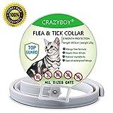 Collier Anti Puces pour Chat, Anti-puces et tiques pour tous les types de Chats Naturel Huile Essentielle-8 mois protection,...