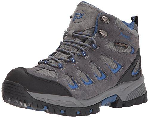 Propet Men's Ridge Walker Boot, Grey/Blue, 15 3E US