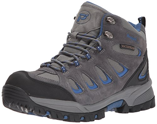 Propet Men's Ridge Walker Hiking Boot, Grey/Blue, 10.5 X-Wide
